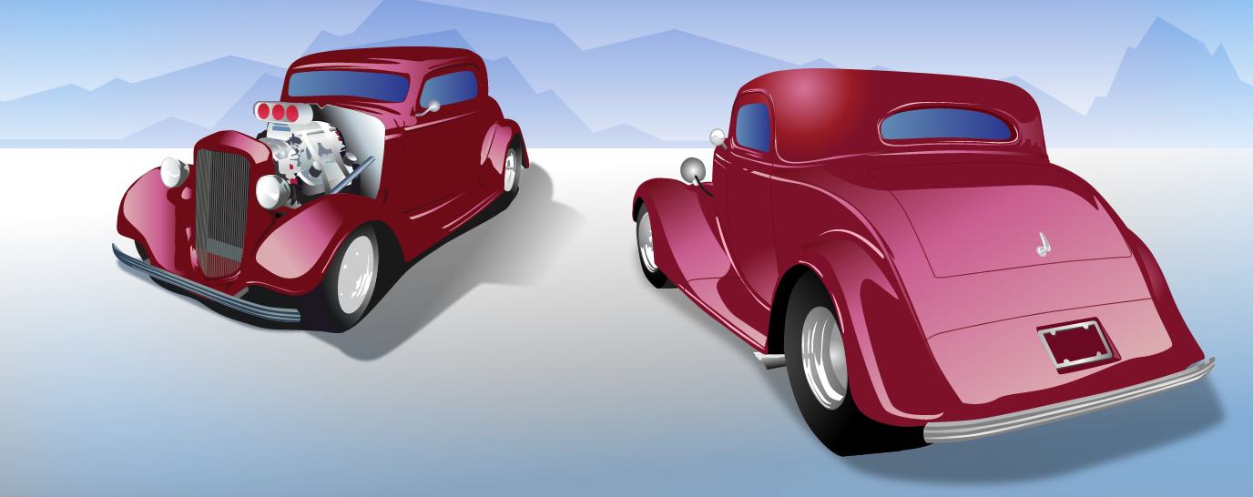 I love old cars! Illustration bases off of photos that I took at a car show.